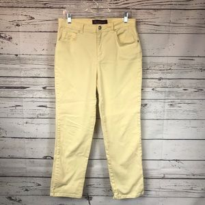 Gloria Vanderbilt Spring Ice Yellow Jeans 10 P
